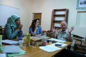 2013 Rens in discussion with boardmembers of Sana Foundation
